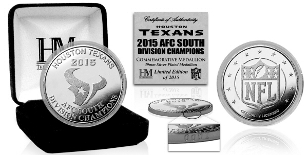 Houston Texans 2015 AFC South Division Champions Silver Mint Coin