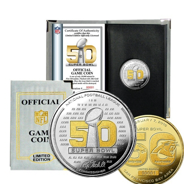Super Bowl Flip Coin Two Tone Super Bowl 50